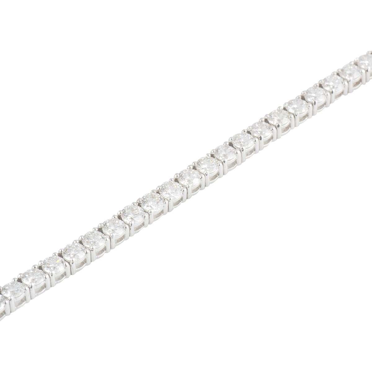 Diamond Line Bracelet 5.30ct G-H/VS